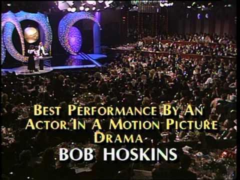 Bob Hoskins Wins Best Actor Motion Picture Drama - Golden Globes 1987
