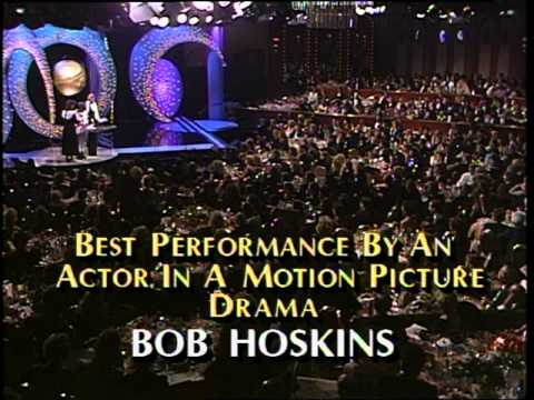 Bob Hoskins Wins Best Actor Motion Picture Drama  Golden Globes 1987