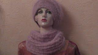 Вязание шарфа-снуда спицами. Схема. видео урок.