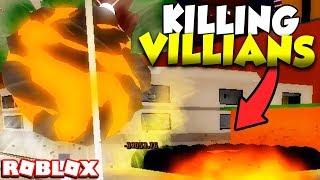 PROTECTING THE NOOBS FROM VILLIANS in Roblox Super Hero Adventures Online