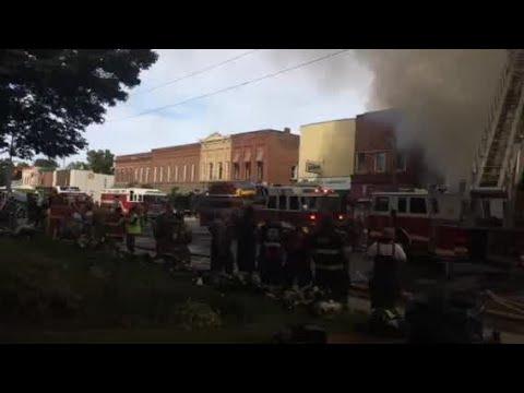 Scene video: Downtown LaGrange building fire