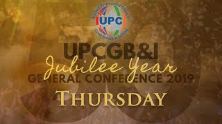 Thursday Morning - UPCGBI Golden Jubilee General Conference 2019