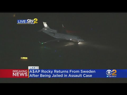 A$AP Rocky Returns From Sweden After Being Jailed In Assault Case