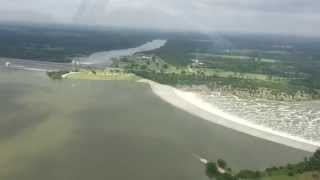 Lake Texoma Flood 2015 Flying over the Spillway