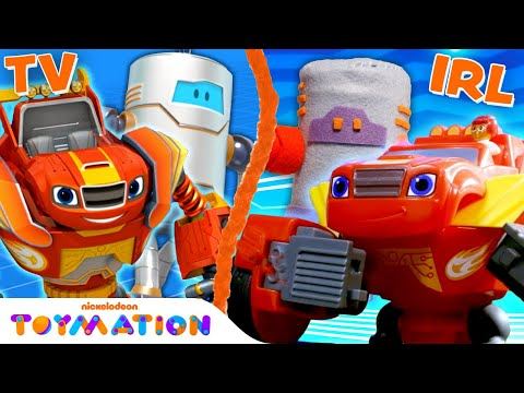 Blaze vs. Wrecking Robots! | Blaze and the Monster Machines Toys | @Toymation