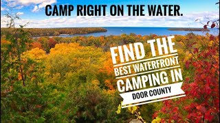 Waterfront Camping in D๐or County, Nicolet Bay campground Peninsula State Park