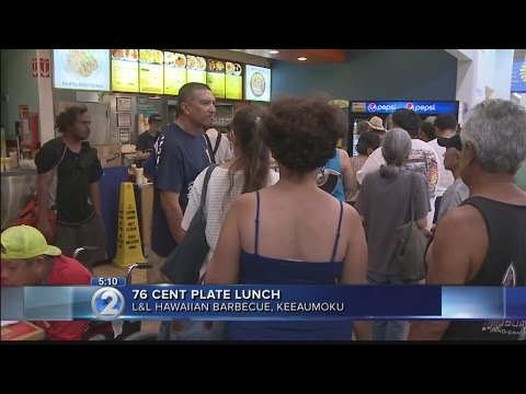 Nearly 2,000 line up for L&L Hawaiian Barbecue's 76-cent plate lunch