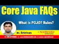 What is POJO? Rules? | Core Java FAQs Videos  | Mr.Srinivas