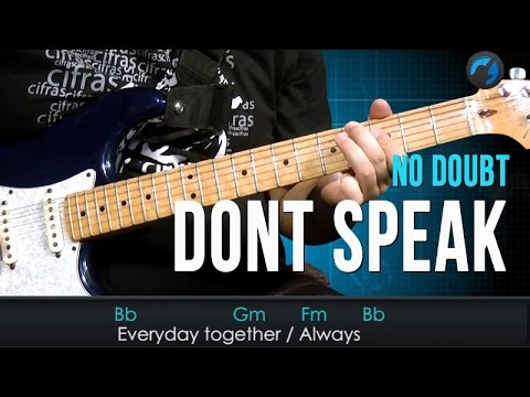 No Doubt - Don't Speak (como tocar - aula de guitarra e violão)