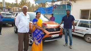 Taking Delivery of Tata Harrier with Family|Key Handover,Exterior,Interior&Driving Video