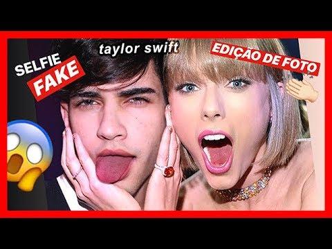 EDIÇÃO de FOTO com a TAYLOR SWIFT | SELFIE FAKE thumbnail