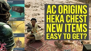 Assassin's Creed Origins Heka Chest NEW ITEMS - How Much Luck Is Needed (AC Origins Heka Chest)
