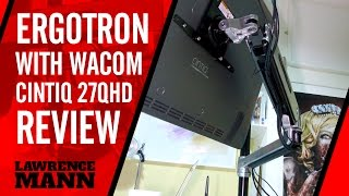 Ergotron Lx Sit Stand Desk Mount LCD Arm for the Wacom Cintiq 27QHD Touch Overview Review