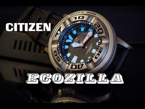 Обзор часов Citizen Ecozilla BJ8050