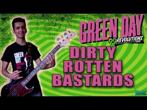 Green Day - Dirty Rotten Bastards ( Bass Cover ) HQ