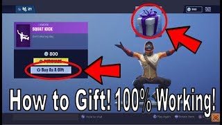 Fortnite - How to Gift Skins and other Items to Friends! [Fastest Tutorial, 100% Working!]