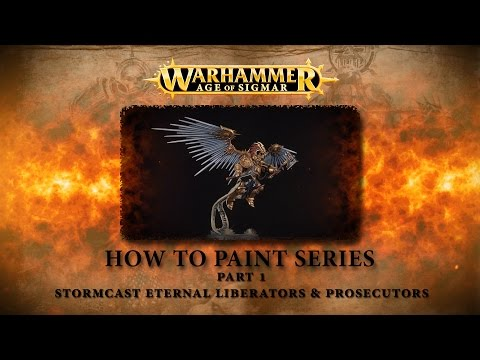 How to paint Warhammer Age of Sigmar part 1 - Stormcast Liberators & Prosecutors.