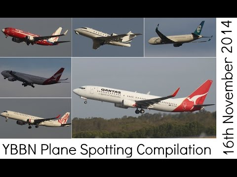 YBBN Plane Spotting Compilation   16th November 2014