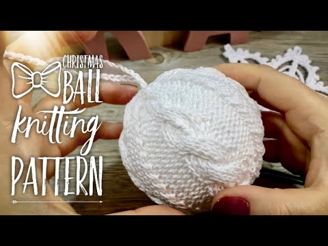 Как спицами связать елочную игрушку