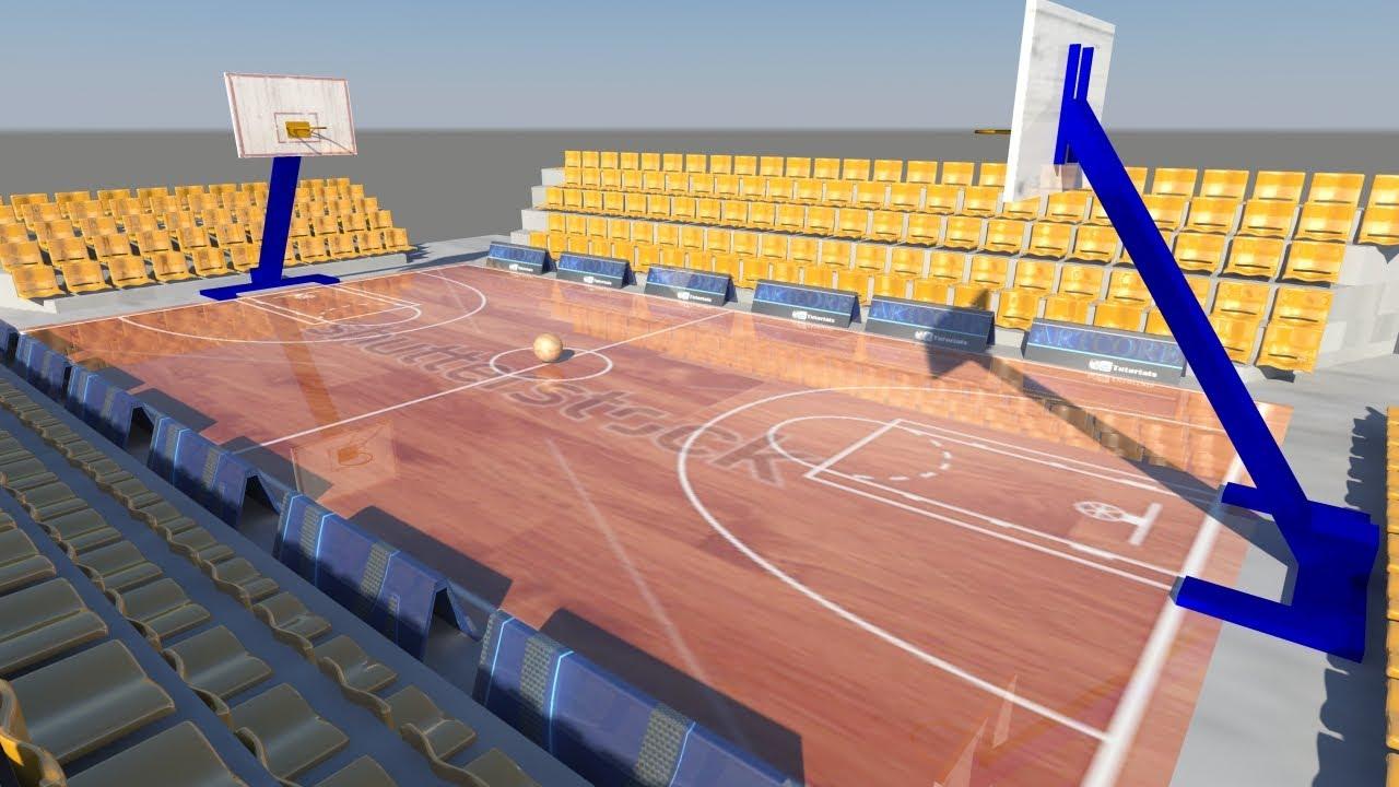 Speed Modeling Maya Basketball Court Youtube