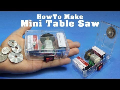 How To Make Mini Table Saw | Adjustable & Portable