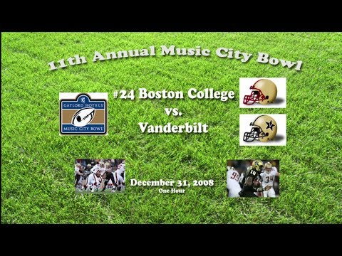 2008 Music City Bowl Boston College v Vanderbilt One Hour