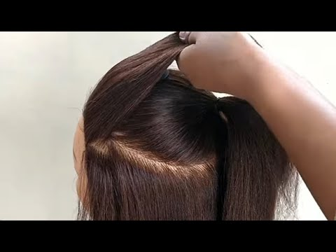Most Beautiful Hairstyle For Party For Medium Or Long Hair || Easy Mini Bun Hairstyle For Party thumbnail