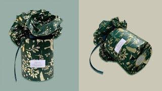 禮物包裝 | 圓柱形聖誕禮物包裝方法