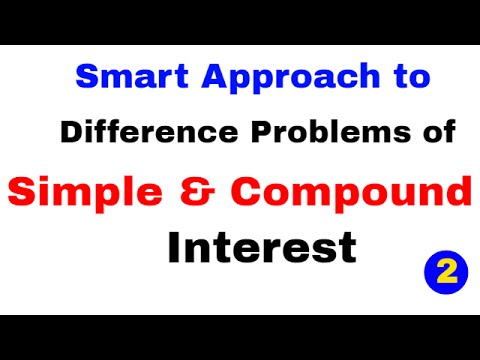 Simple Interest And Compound Interest Difference Tricks Part 2 By Study Smart | In Hindi