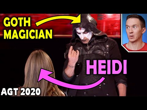 Magician REACTS To Miki Dark Throws Knives At Heidi Klum On AGT The Champions 2020