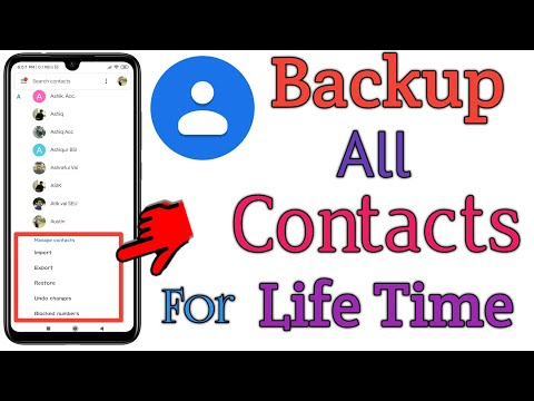 Backup All Contacts To Gmail For Lifetime | How To Backup Contacts To Google Drive