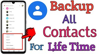 Backup All Contacts To Gmail For Lifetime   How to backup Contacts to Google Drive