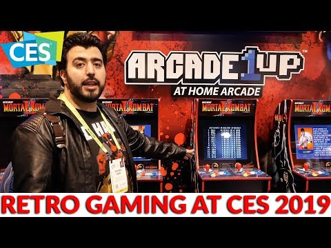 Arcade 1Up At CES 2019 - Retro Arcade Gaming Including Mortal Kombat & Street Fighter & So Much More - 동영상