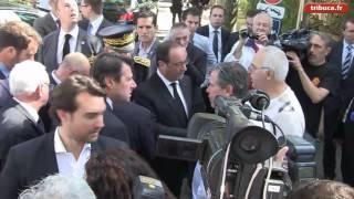 Intempéries : le soutien d'Hollande à Biot et Antibes
