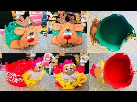 Panetonera Paso A Paso Craft Diy Manualidad Navidad En Foamy