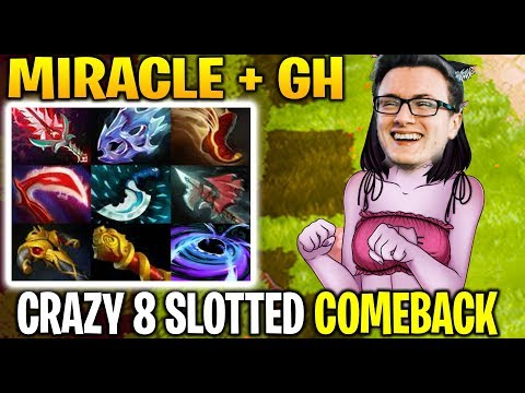 MIRACLE + GH - 8 Slotted TA Comeback game is not impossible Dota 2 7.21d