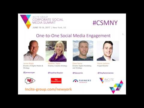 One-to-One Social Media Engagement - Kansas City Chiefs, The Economist, Farmers Insurance