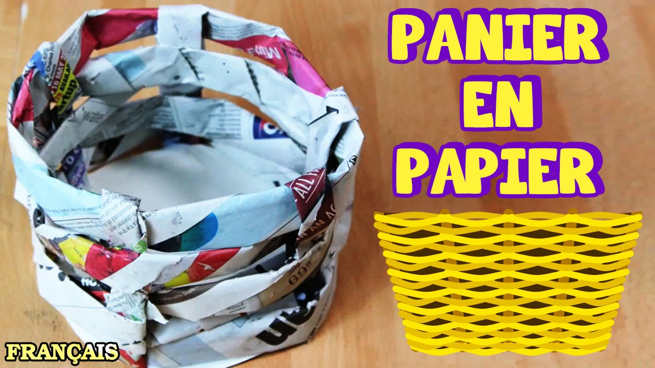 Bricolage facile comment faire panier en papier how to - Creation facile a faire ...