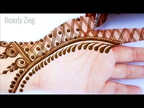 New Beautiful Dots Mehndi Design Front Hand || Simple Mehndi Design Gol Tipki - आसान मेहँदी डिज़ाइन