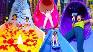 หนูยิ้มหนูแย้ม เล่นสไลเดอร์ เล่นสวนสนุก HarborLand Tukcom Srircha