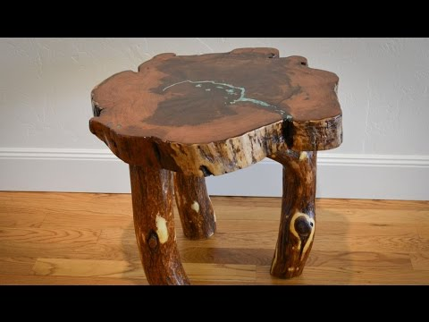 Woodworking How To Level Rustic Mesquite End Table Log