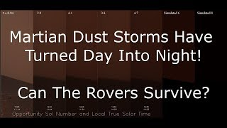 Martian Dust Storm Has Turned Day Into Night - Can Opportunity Survive?