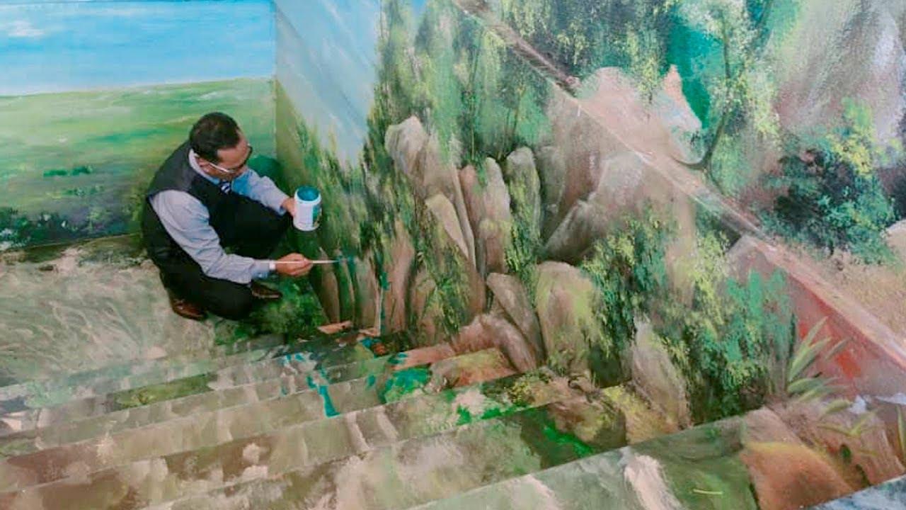 Kreativiti Guru Hiasi Sekolah Dengan Mural 3d