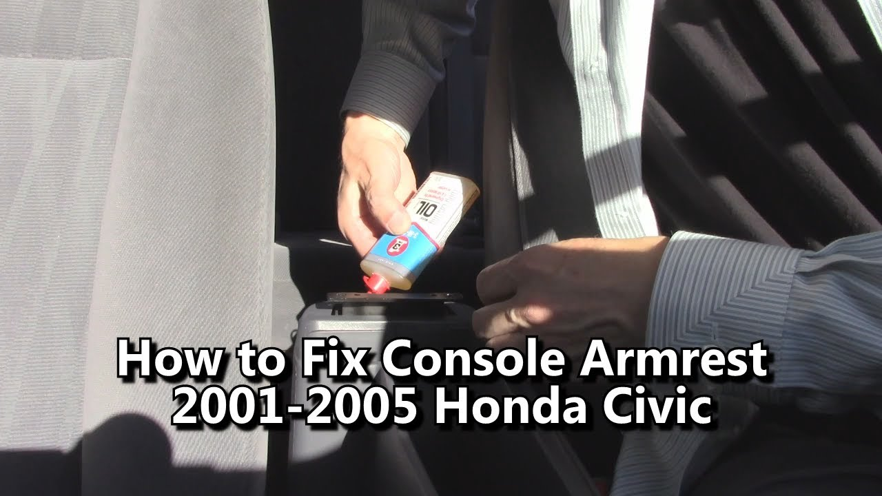 How To Fix Center Console Armrest 2001 2003 2004 2005 Honda Civic Hybrid Fuse Box Diagram