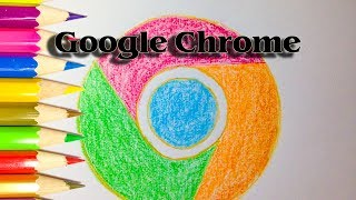 How to Draw the Google Chrome Logo step by step - SLD