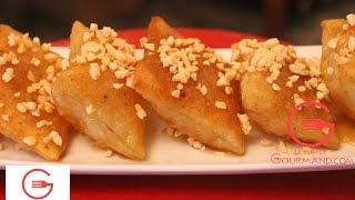 Repeat youtube video Crêpes croustillantes au miel-   رغايف اللوز و العسل مقرمشة بطريقة جد بسيطة
