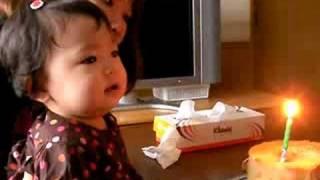 【1歳】ほのちゃんのファーストバースデー その1:ケーキでお祝い