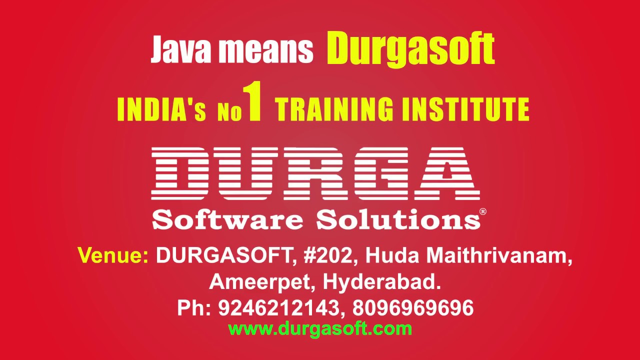 New Java RealTime Project Class Room Batch on 7th April @ 6:00PM by Sriman
