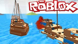 Roblox Epic Games #1- CRAZY BATTLE AT SEA GAME! Roblox Float Your Boat (Roblox Gaemplay)