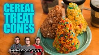 Crispy Cereal Treat Ice Cream Cones Review - Dudes N Space